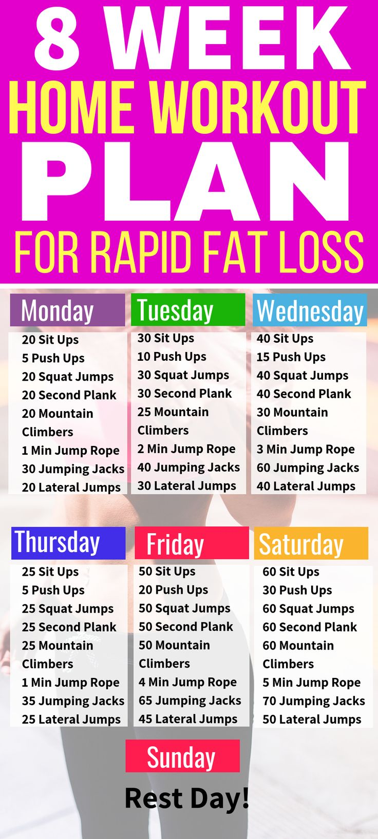 This 8 week no gym home workout plan is THE BEST! I'm so glad I found this home … – Workouts