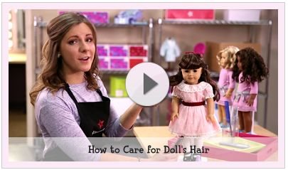 While cleaning your American Girl doll, always cover her eyes to avoid getting water in them, which can cause rust, and try to keep her soft-fabric body and her hair as dry as possible. And remember, NEVER SUBMERGE YOUR DOLL IN WATER.