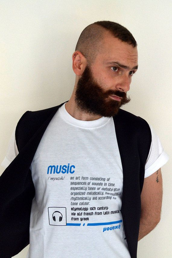 "men's t-shirt ""music"" by etymologydesign on Etsy"