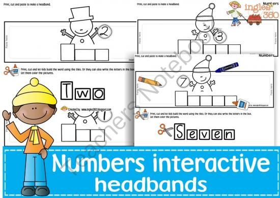 Numbers Counting Preschool Stuff on Free Cut And Paste Numbers Tpt 1 50 Kindergarten