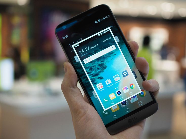 How to take a screenshot on the LG G5