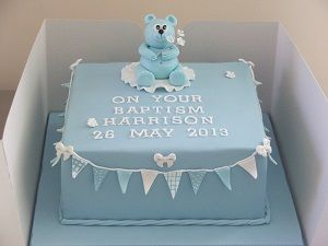 square christening cake - Google Search