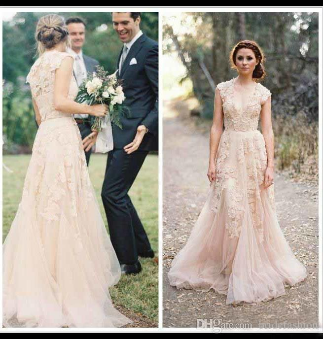 Blush Wedding Dresses Hot Sale Off Shoulder Sheer Beach Simple Wedding Gowns Applique Custom Made Cheap Bridal Gowns T Line Wedding Dresses A Line Dresses Wedding From Bridefashion, $130.06| Dhgate.Com