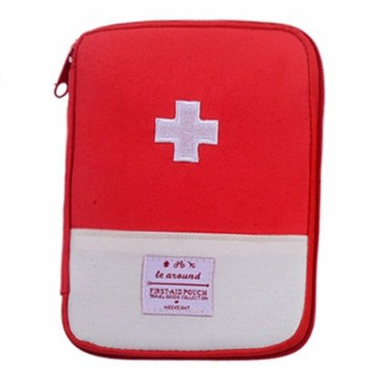 Travel Home Portable First Aid Kit Emergency Kit Storage Bag Portable Small Medipack Small - Red