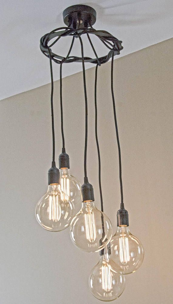 Hanging Spiral Edison Bulb Chandelier Retro Bulbs With A Modern Design Industrial Light Fixtures Edison Pendant Light Rustic Lighting
