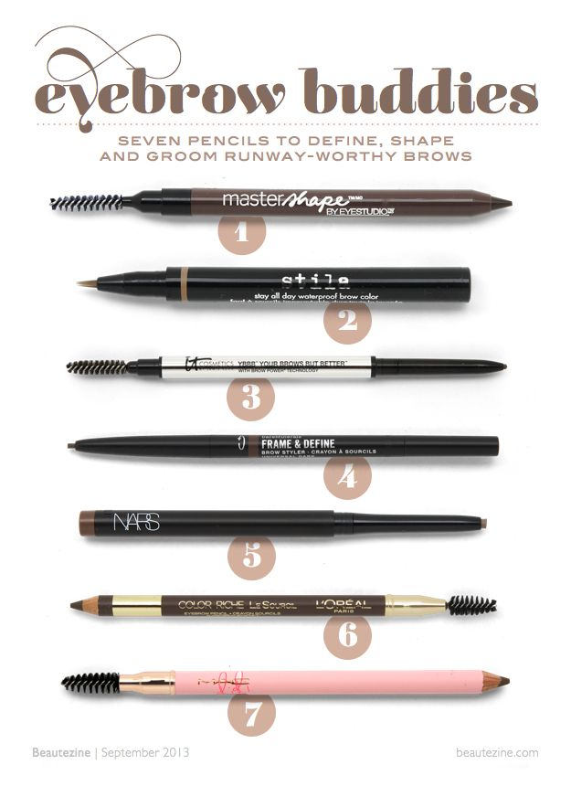 Eyebrow Buddies: 7 Pencils to Define, Shape and Groom Runway-Worthy Brows