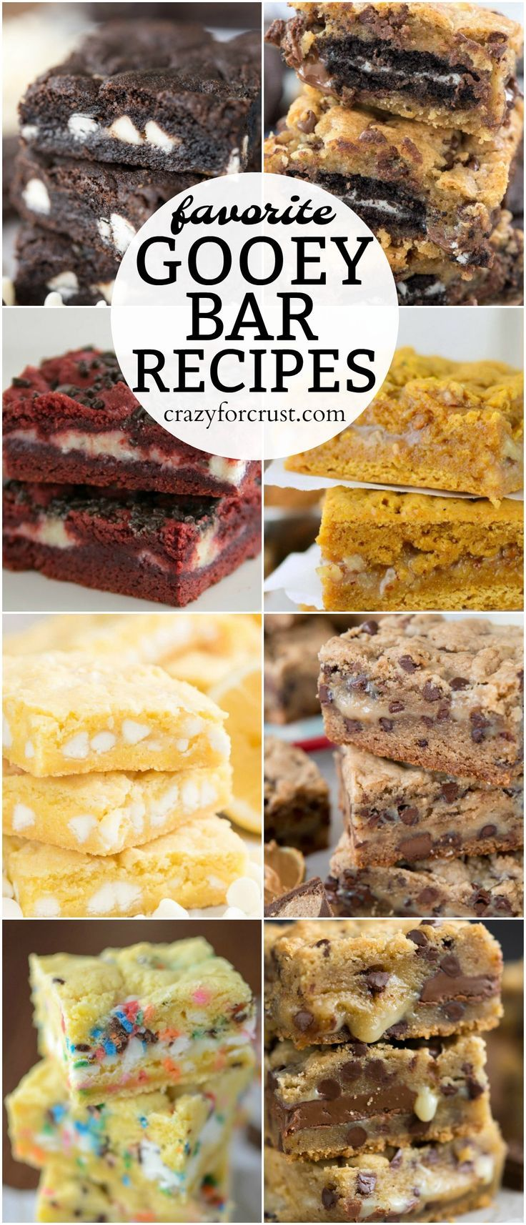 These are my favorite Gooey Bar Recipes and perfect for any occasion. Chocolate, lemon, peanut butter - everyone loves these recipes!