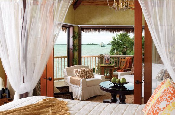 Little Palm Island Resort & Spa in Florida: This hideaway is only accessible by seaplane or boat, and there are no TVs or phones allowed, leaving couples with nothing to do but focus on each other. (Photo: Little Palm Island)