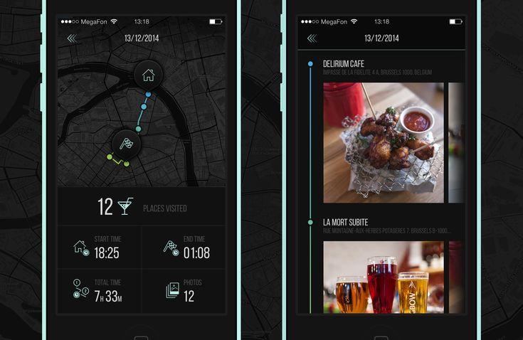 Route tracker app / Maria Shanina