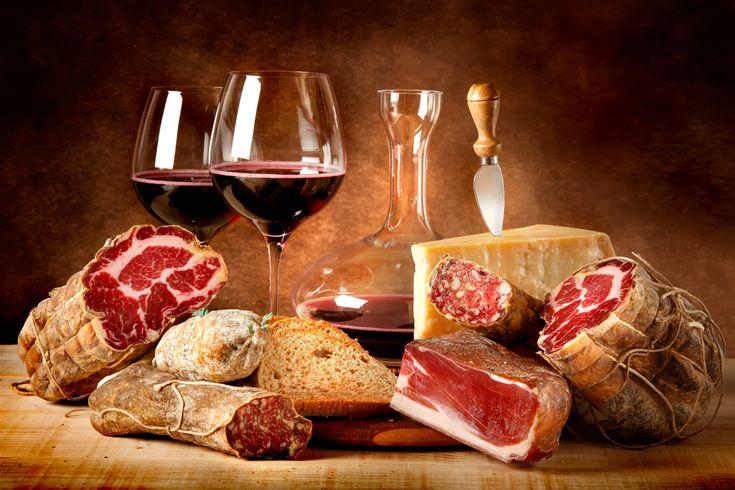 Italian Wine, cheese and salumi pairing - www.100ITA.com
