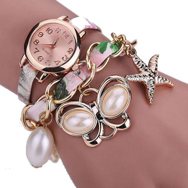 Великолепный Мода Часы Для Женщин Кожа Женщины Браслет Плетеный Обмотки Wrap Кварцевые Часы Горячая Вскользь Смотреть