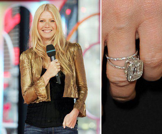 """Pin for Later: Die schönsten Eheringe der Stars Gwyneth Paltrow Gwyneth sagte 2003 zum Antrag von Chris Martin """"Ja."""""""