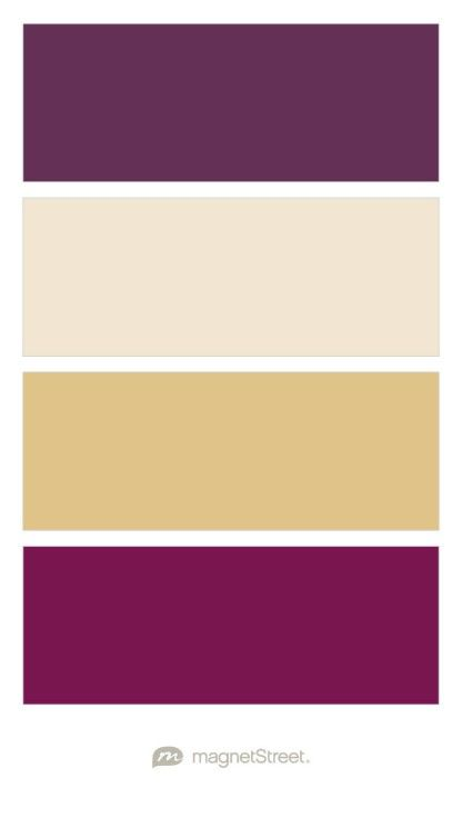 Eggplant, Champagne, Gold, and Sangria Wedding Color Palette - custom color palette created at MagnetStreet.com