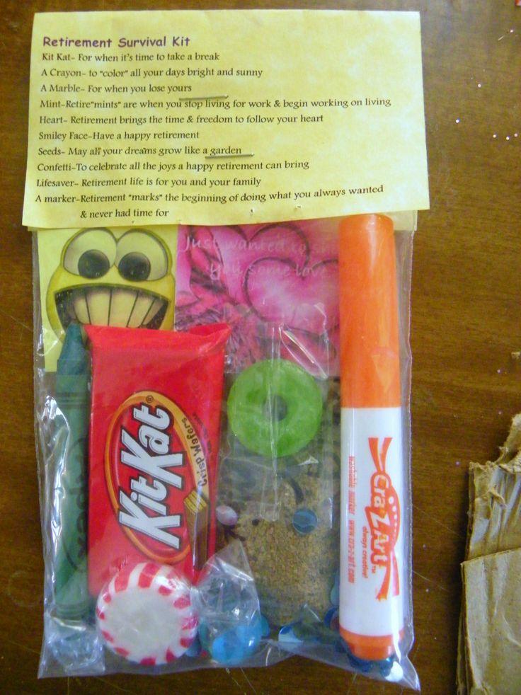 Retirement Survival Kit 10 Items Inside Novelty Gift | eBay