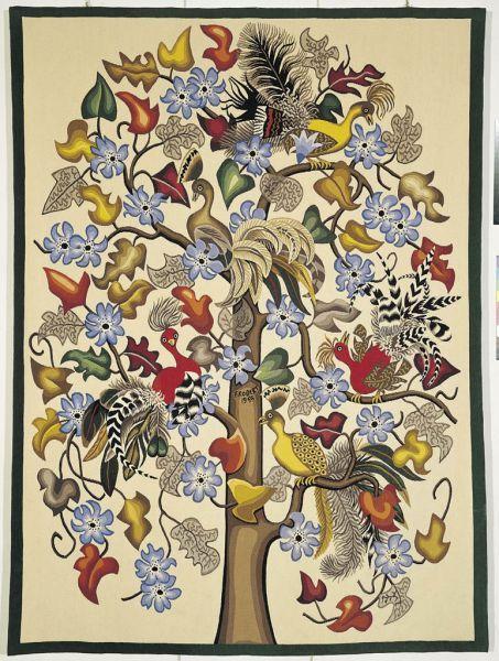 Dom Robert Tapisserie 220x160 cm Les oiseaux rares