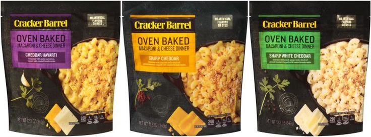 Presenting it as a less time-consuming way to bake some mac & cheese, Kraft releases new Cracker Barrel Oven Baked Macaroni & Cheese.