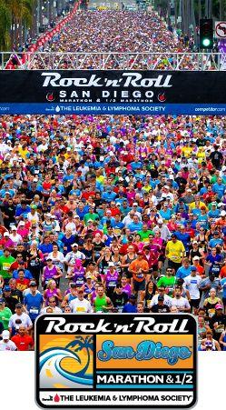 Part of a great San Diego summer, the Rock 'n' Roll San Diego marathon & 1/2 marathon. #EpicSummerRun