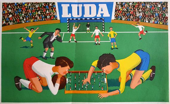 1960 Table Football/Soccer Luda Toy Advertisement  Original