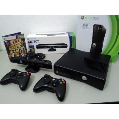 (1) Xbox 360 Slim + 2 Controles + Kinect + Jogos + Frete Grátis - R$ 999,99 em Mercado Livre