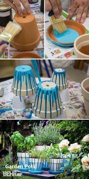 Neue DIY Gartentöpfe