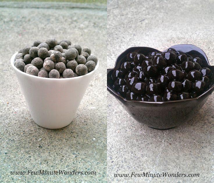 Boba tapioca black pearls learning to prepare boba