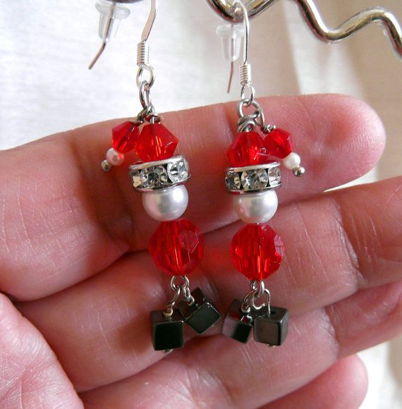 On Sale  25 Off  Santa Claus Earrings  Christmas by LaBelleBead, $15.00
