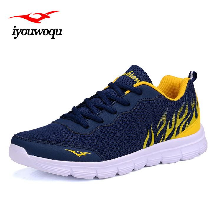 iyouwoqu 2017 Summer New Arrivals Fashion Men casual shoes Breathable mesh  Lace-Up Men shoes