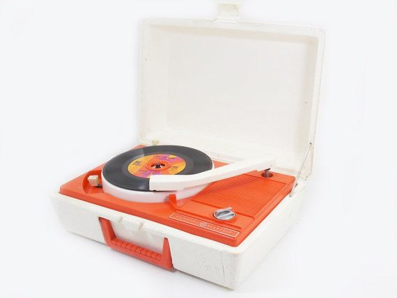 Hey, I found this really awesome Etsy listing at https://www.etsy.com/listing/183734621/vintage-orange-and-white-portable-record