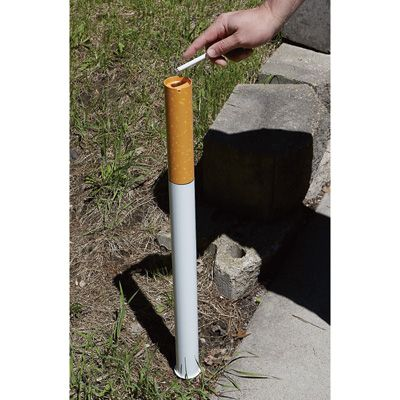 Cigarette-Style Outdoor Ashtray