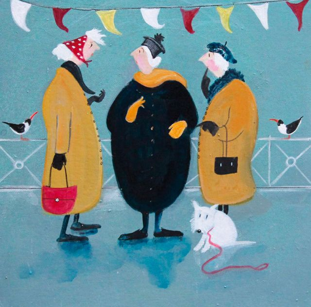'Another Good Walk Ruined' By Painter Jennifer Verny-Franks. Blank Art Cards By Green Pebble. www.greenpebble.co.uk