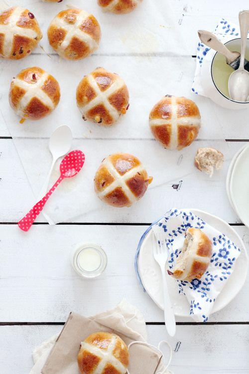 Hot Cross Buns | natalie eng | patisserie • food photography