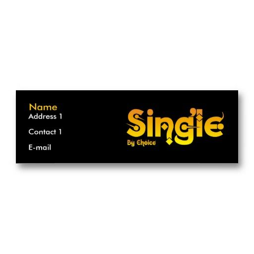 Funny Single by Choice Business Cards #businesscards