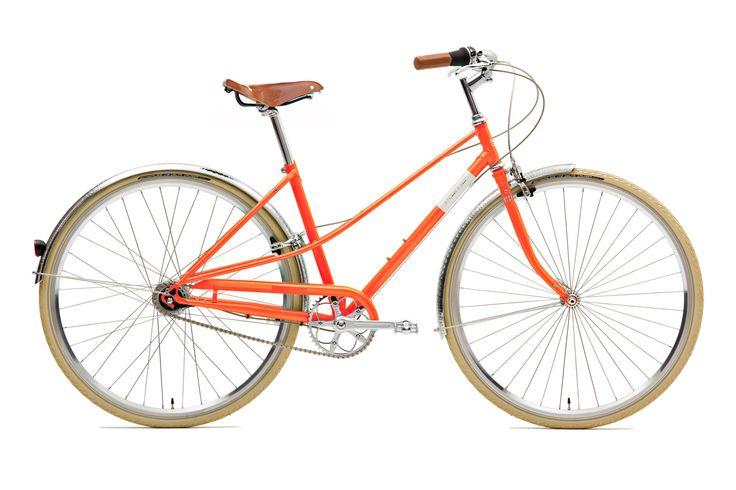 Creme  Caferacer Doppio velo ville Femme 7-speed, dynamo orange Achetez malin sur bikester.fr