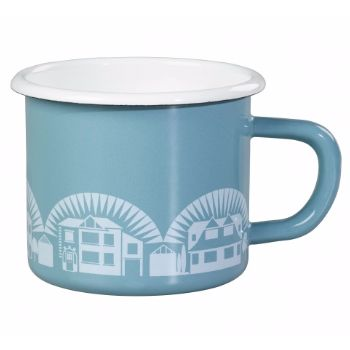 Wild and Wolf Enamelware Mug, Chalkhill Blue : This enamelware range is inspired by their personal collection of mid-century Scandinavian cookware. It follows in the tradition of combining great colour and pattern with quality and practicality.