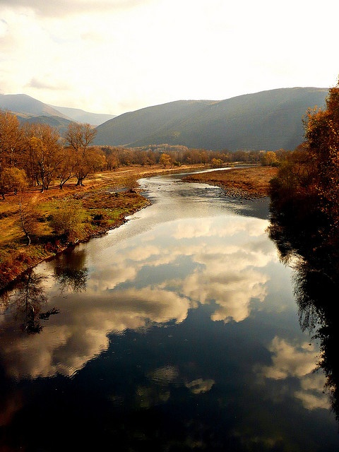 Clouds in the  Nestos River, Greece