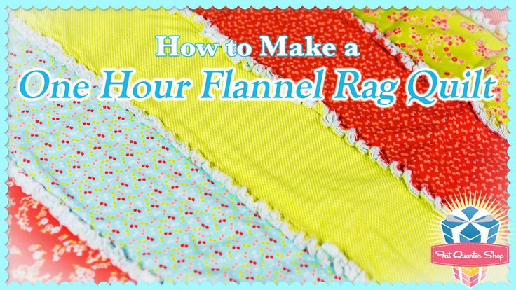 One-Hour Flannel Rag Quilt! Easy Quilting Tutorial with Kimberly Jolly o...