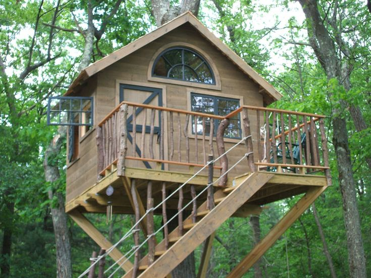... Designs Free With Interesting Windows Model And Black Architrave Color  And Rustic Door Design And Nice Staircase: Fun Design Tree House Plans For  Kids