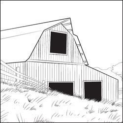 Line Drawing of Barn   He Fills My Cup : Charlotte's Web Free Printable Coloring Pages