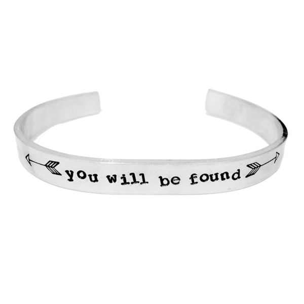 """Dear Evan Hanseninspired """"you will be found""""Bracelet 1/4"""" wide 6 inch long aluminumcuff bracelet. The metal is durable yet soft enough to shape it to your ow"""