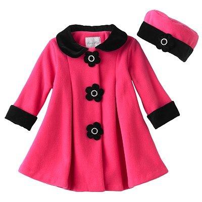 Sophie Rose Floral Fleece Coat - Baby