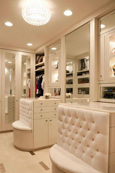 A closet and a relaxing place to lounge.%0ACourtesy Pinterest  - HarpersBAZAAR.com