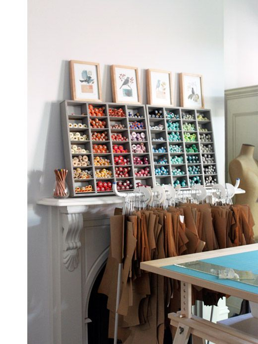 Sewing room inspiration.
