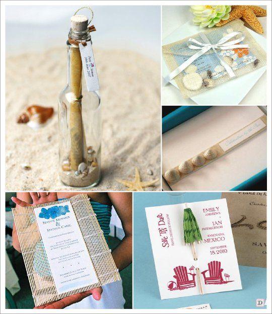 Mariage mer faire part bouteille parasol beach decorating theme pinterest - Decoration table mer ...