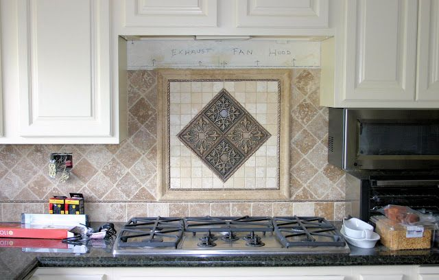 Kitchen backsplash centerpiece set the quot tumbled
