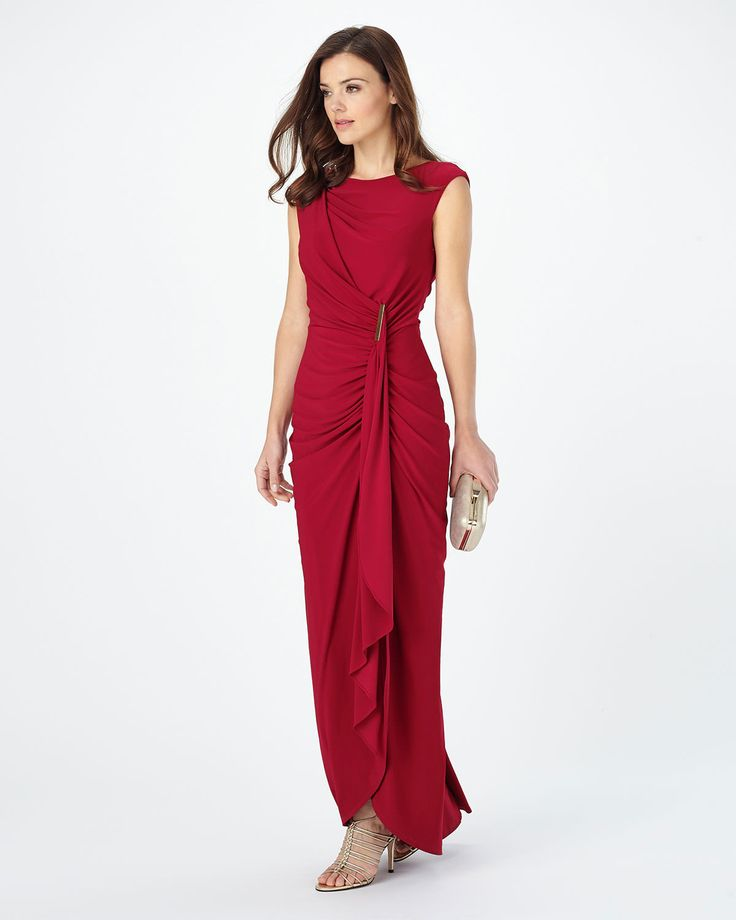 Phase Eight Donna Full Length Dress Red