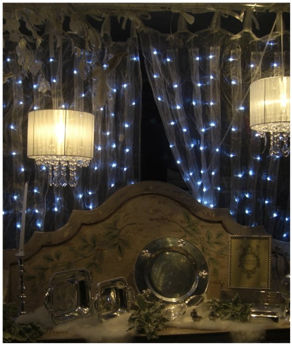 Organza Curtains With Fairy Lights Light Fixtures