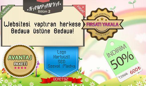 Web Sitesi yaptıran herkese BEDAVA üstüne BEDAVA!