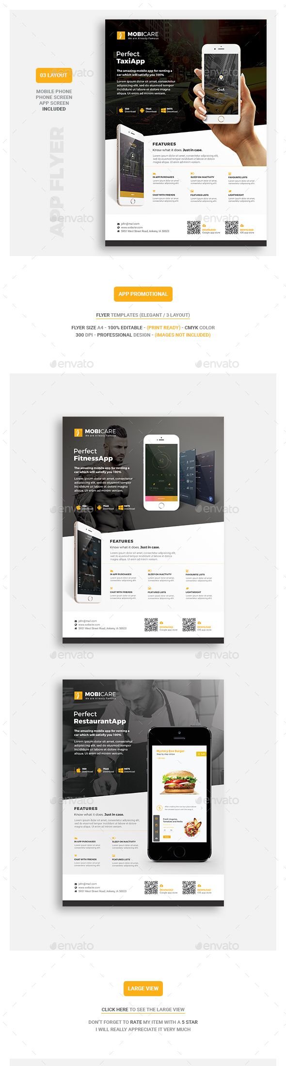 #Mobile #App Flyer - Commerce #Flyers Download here: https://graphicriver.net/item/mobile-app-flyer/18543396?ref=alena994