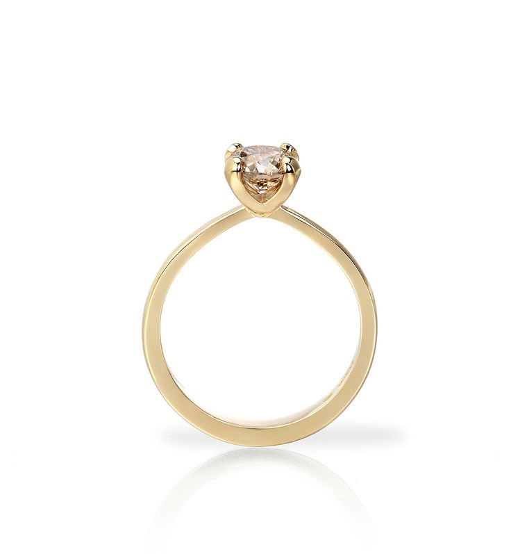Our new four claw rose gold ring