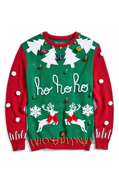 Ugly Christmas Sweater Colorblock Make-Your-Own Sweater Kit (Juniors) available at #Nordstrom